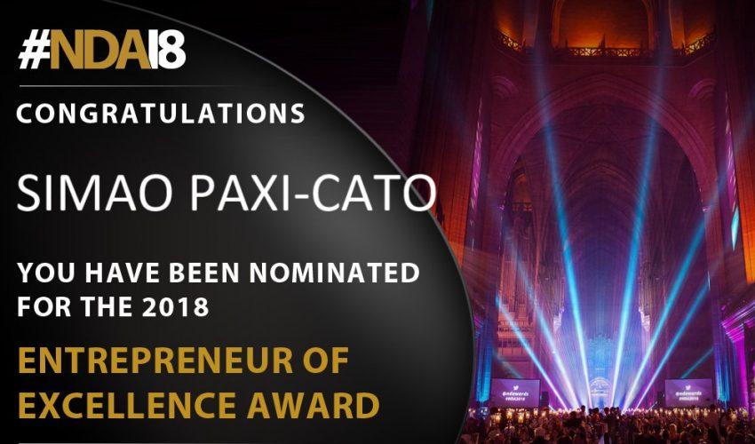 2018 Entrepreneur of Excellence Award Graphic