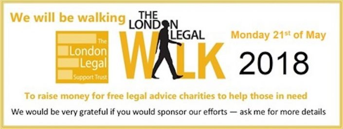 London Legal Walk 2018 Banner