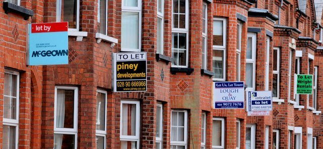 Property To Let Signs on UK Street