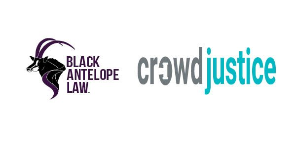 Black Antelope Law and CrowdJustice Logos