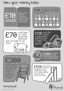 Mind Charity Fundraising Infographic